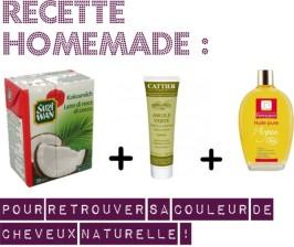 recette homemade cheveux naturelle